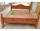 เตียงนอนไม้สักอบแห้ง T01